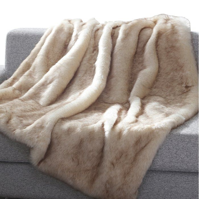 Chateaugay Heavy Faux Fur Blanket With Images Faux Fur Throw Blanket Fur Throw Blanket Faux Fur Throw