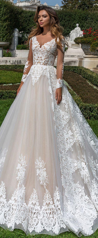Marvelous Tulle V neck Neckline Natural Waistline A line Wedding ...