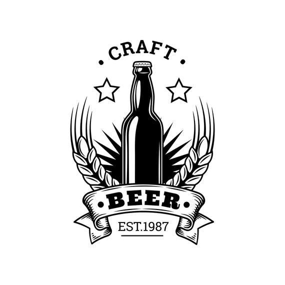 Beer Logo 60 Barrel Pub Bar Tavern Brew Brewery Barley Etsy In 2021 Beer Logo Beer Logo Design Retro Beer Logo