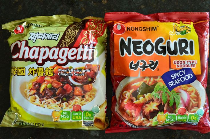 Chapagetti and Neoguri Korean instant noodles
