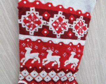 Knit Sweater terminado media fieltro hecho a mano de la Navidad Bucilla kit