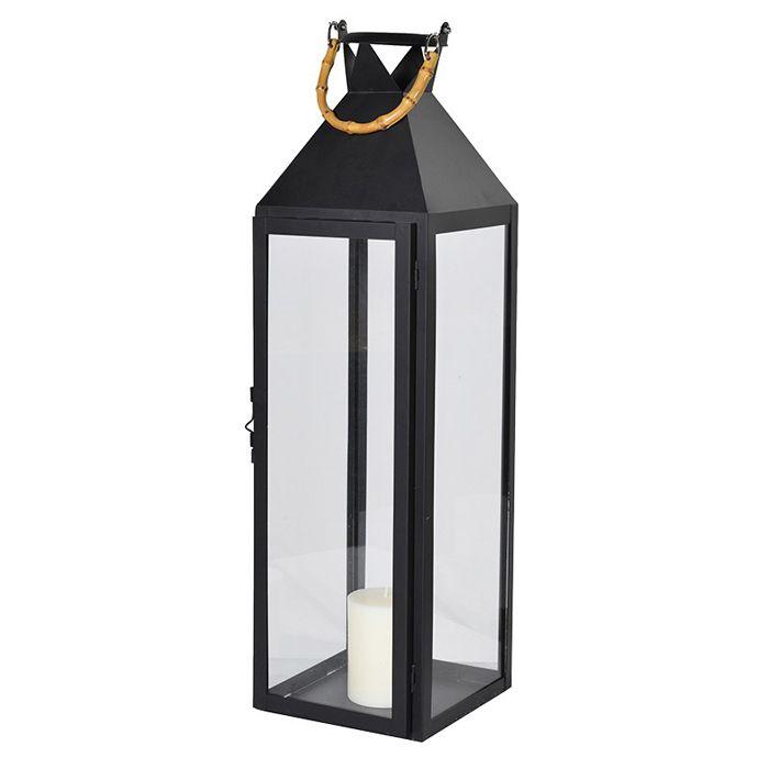 Large black Christmas lantern