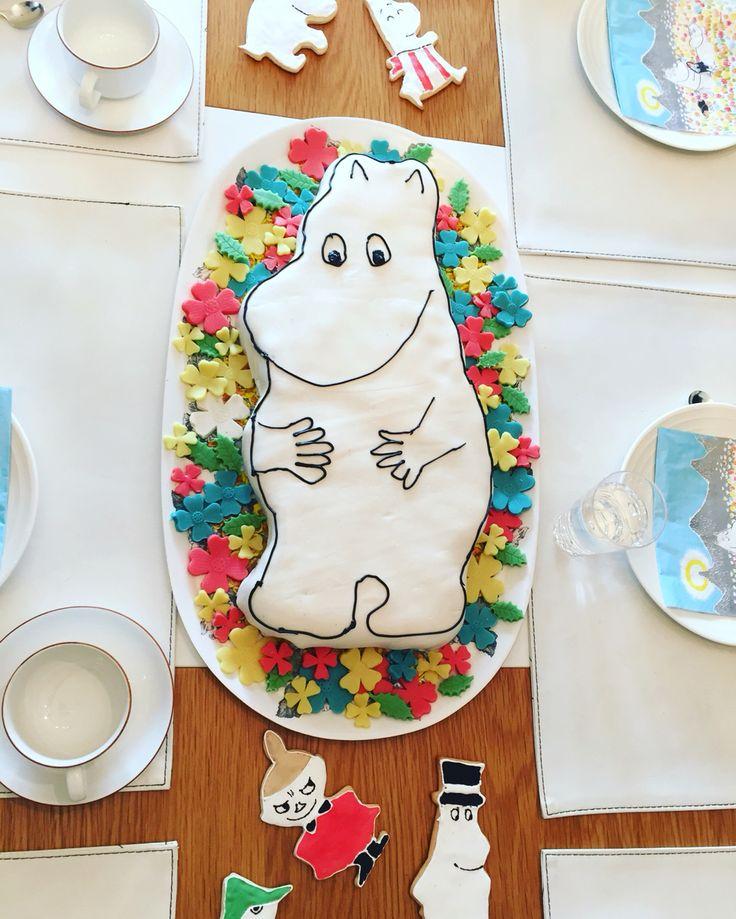 Mumintårta. Moomin cake.