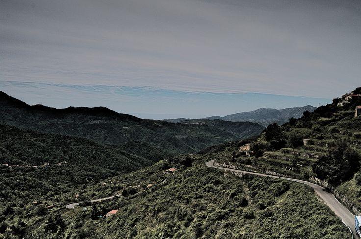 Landschaft in den ligurischen Seealpen bei SanRemo