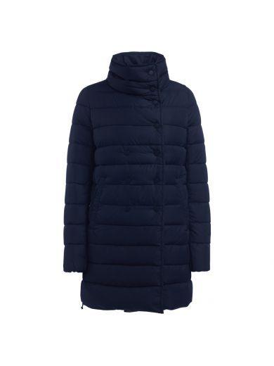 DUVETICA Piumino Lungo Duvetica Modello Caitriona Di Color Blu Navy. #duvetica #cloth #coats-jackets