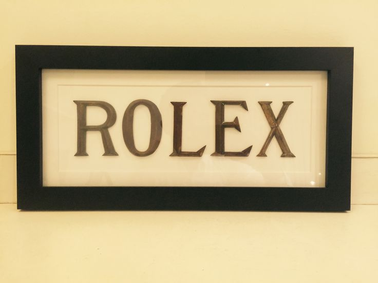 French shop lettering - Rolex