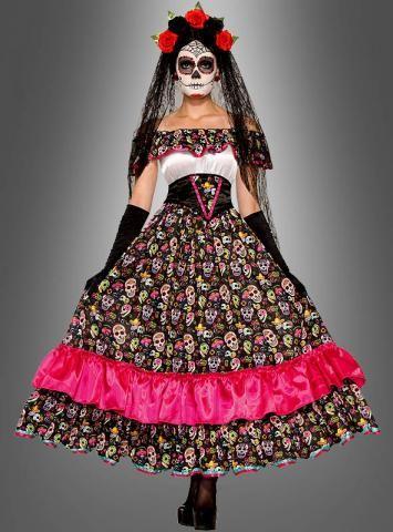 Mexikanerin Sugar Skull Day of the Dead Kostüm