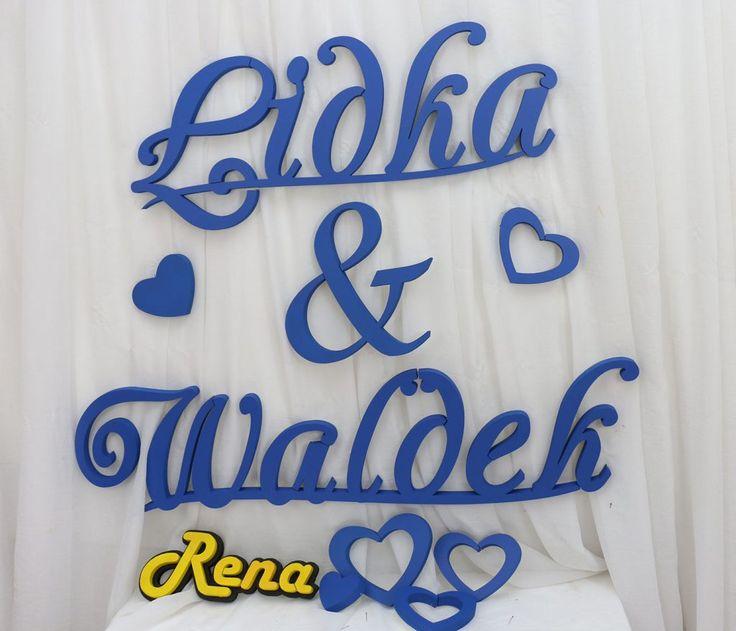 Imiona ślubne na ściankę  Nowożeńców  Lidka&Waldek