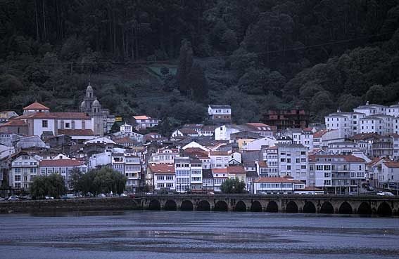 Pontedeume in Galicia, Spain