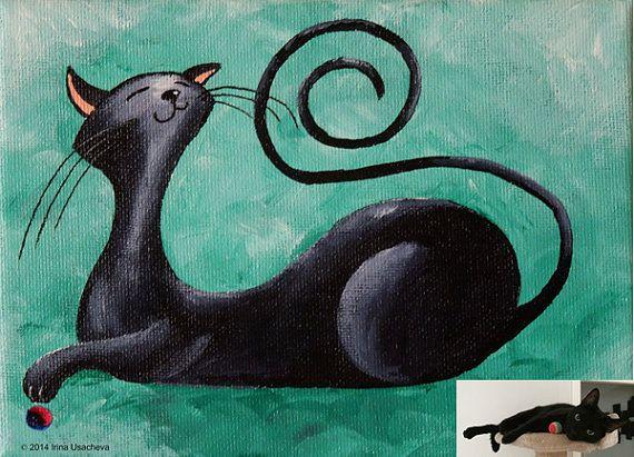 Custom Cat Portrait Painting Nubia Fantasy Cat by NaturelandsAndCo