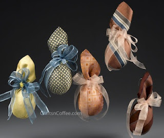 recycled tie eggs for Easter