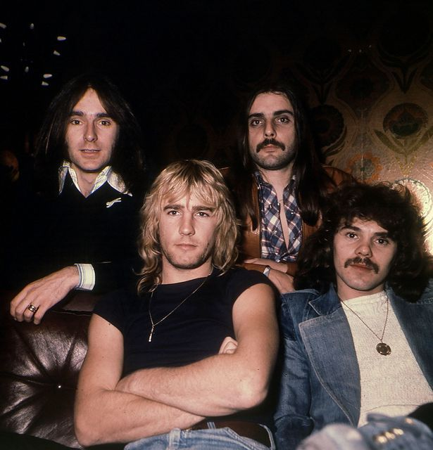 Status Quo Rock Group Francis Rossi and with Rick Parfitt and other members of the band DBase