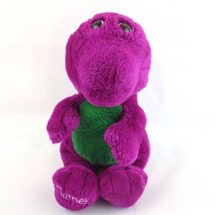 "BARNEY THE DINOSAUR 13"" Backyard Gang 90's Plush Purple Toy #Unbranded"