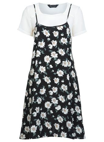 Floral Slip Tshirt Dress - Dresses - Clothing