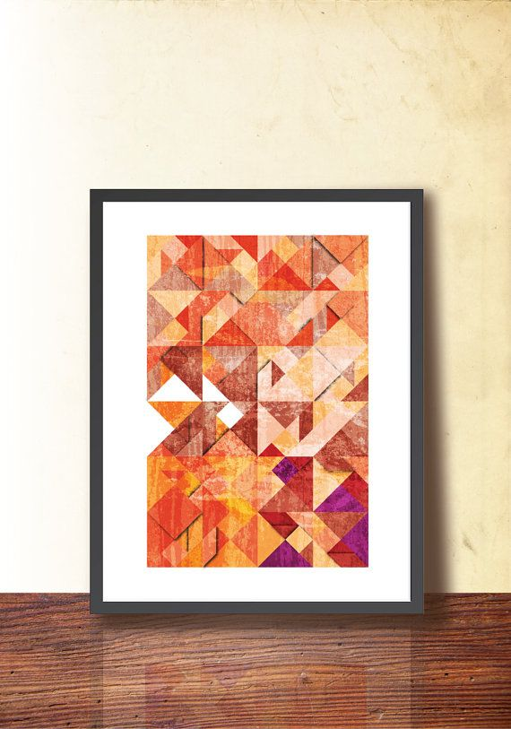 Tangram Geometric Art Poster Abstract A3 Print by TANGRAMartworks
