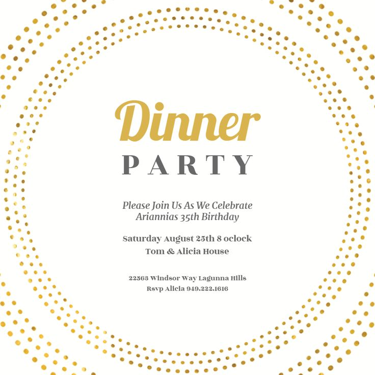 58 best Dinner Party Invitation Template images on Pinterest