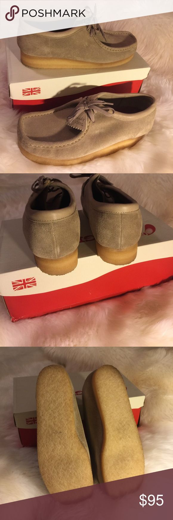 Men's Clarks Wallabee Like new!! True gum soles. Includes box. Only worn to try on. Clarks Shoes