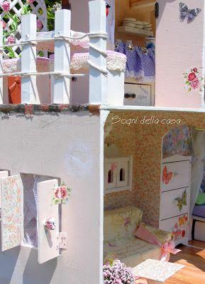 Sogni della casa  ...láska snívať a tvoriť ...: Domček pre bábiky