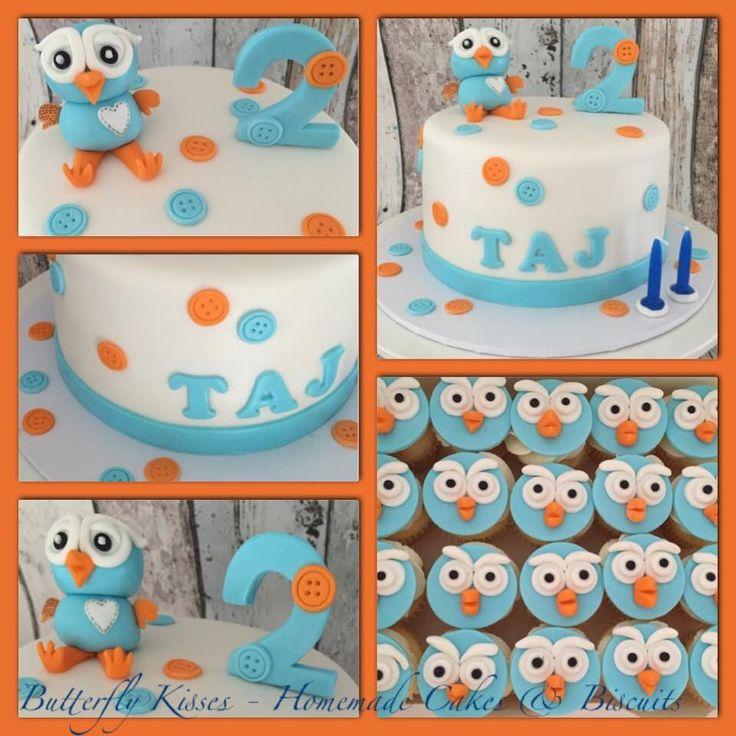 Hoot cake and cupcakes