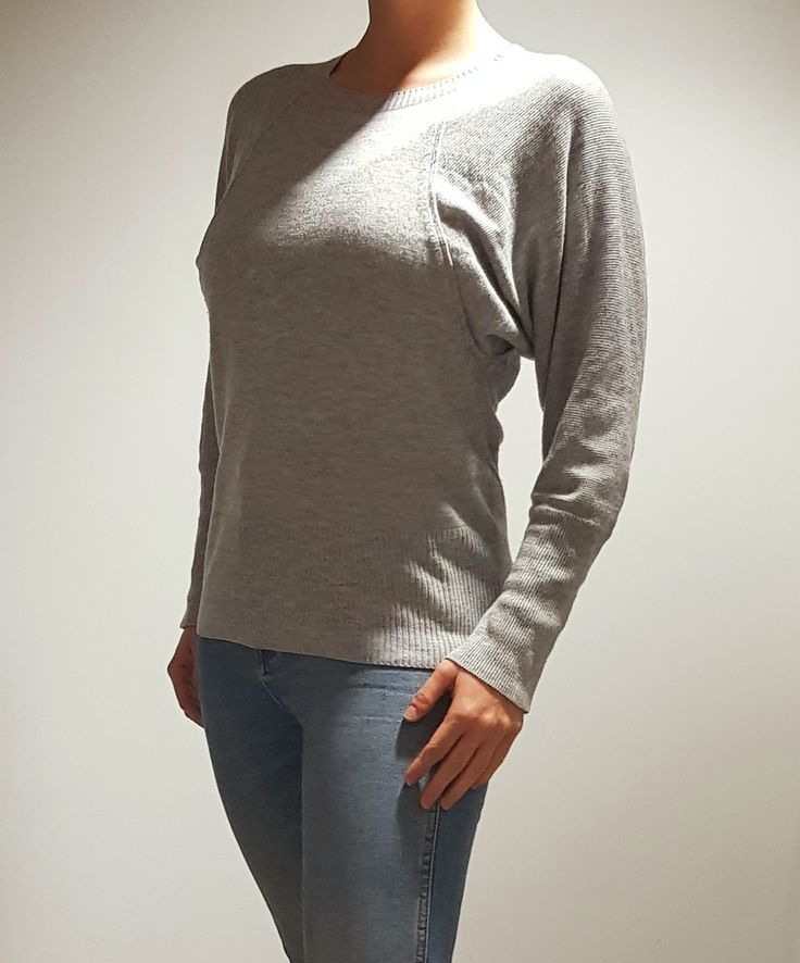 Grey Batwing Top $25 Size 10