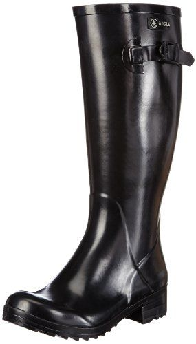 Wellyprint, Bottes de Pluie Femme - Noir - Schwarz (Black Beau Bloom), 36Joules