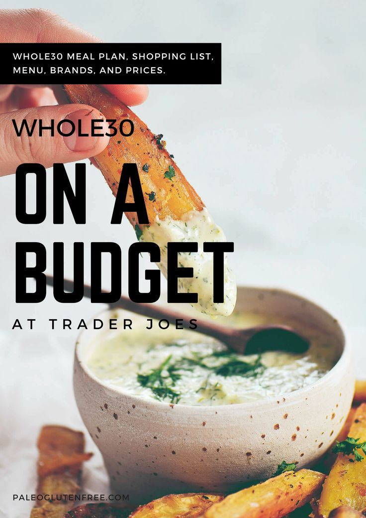 A Whole30 Trader Joe's Grocery Guide! Here is what I ate on whole30 while on a budget! Just for you- there is a meal plan, shopping list, brands, and prices to look for at Trader Joes! Whole30 grocery shopping doesn't need to be difficult. Whole30 on a budget. Whole30 trader joes shopping list. whole30 budget. whole30 meal plan. Easy whole30 dinner recipes. Easy whole30 dinner recipes. Whole30 recipes. Whole30 lunch. Whole30 meal planning. Whole30 meal prep. Healthy paleo meals. Healthy…