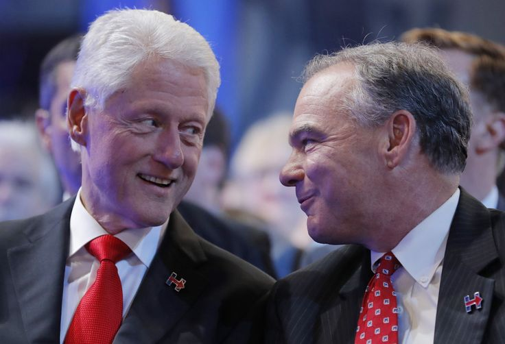 AWKWARD08.17.16 12:00 AM ET Tim Kaine Once Said Cheating Politicians Should Resign—Including Bill Clinton