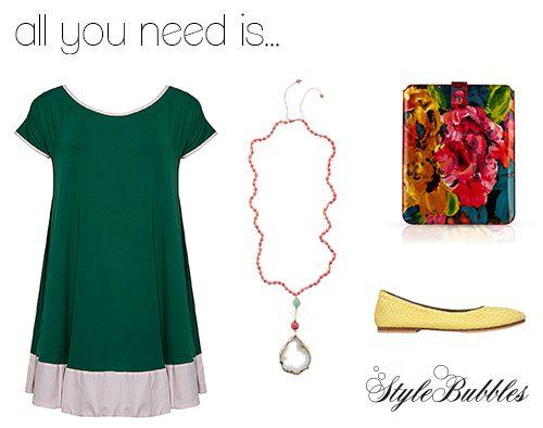 #dress #ioannakourbela #accessories #fashion #ballerinas #ipad