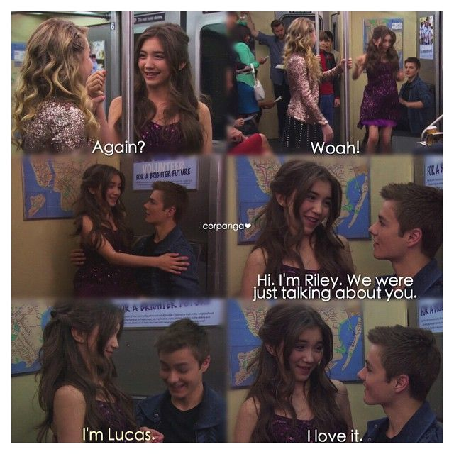 Who ends up dating lucas in girl meets world