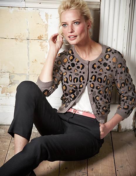 Leopard Beaded Cardigan
