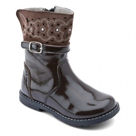 Glossy, Brown Patent Girls Zip-up Boots - Girls Boots - Girls Shoes http://www.startriteshoes.com/girls-shoes/boots/glossy-brown-girls-zip-boots