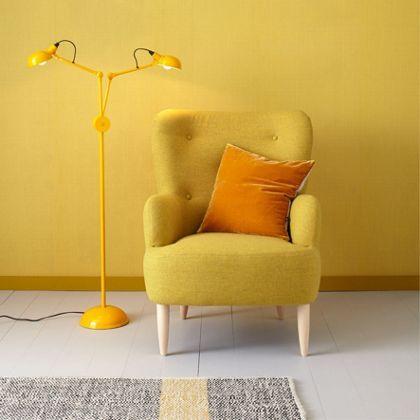 Habitat Texture Printed Wallpaper - Mustard Yellow