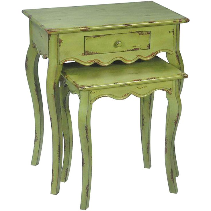 Verde Stacking Table in Green - Set of 2 | Sterling | Home Gallery Stores