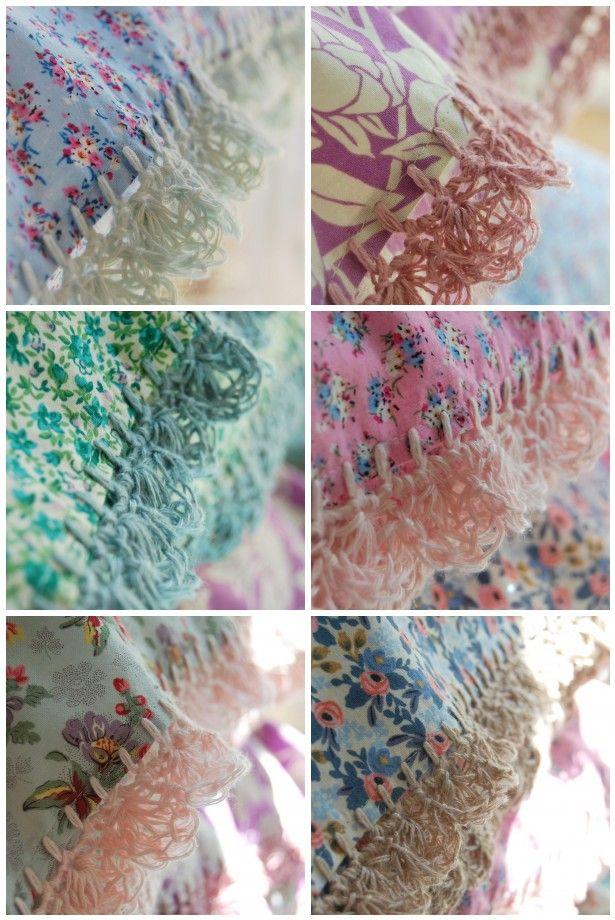 new crochet-trimmed pillowcases...
