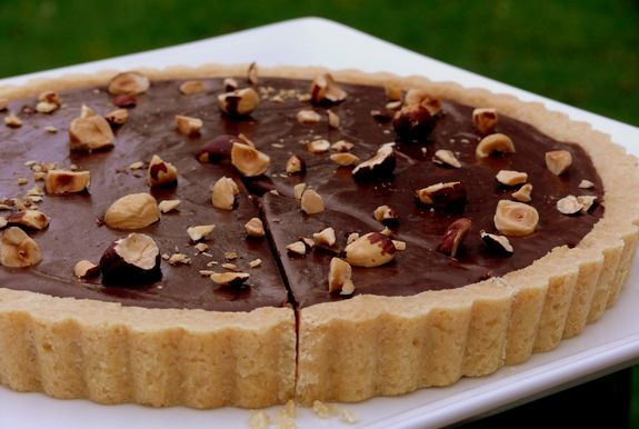 Nutella Tart- I've never made it with the nuts. The crust is a delicious shortbread recipe too.