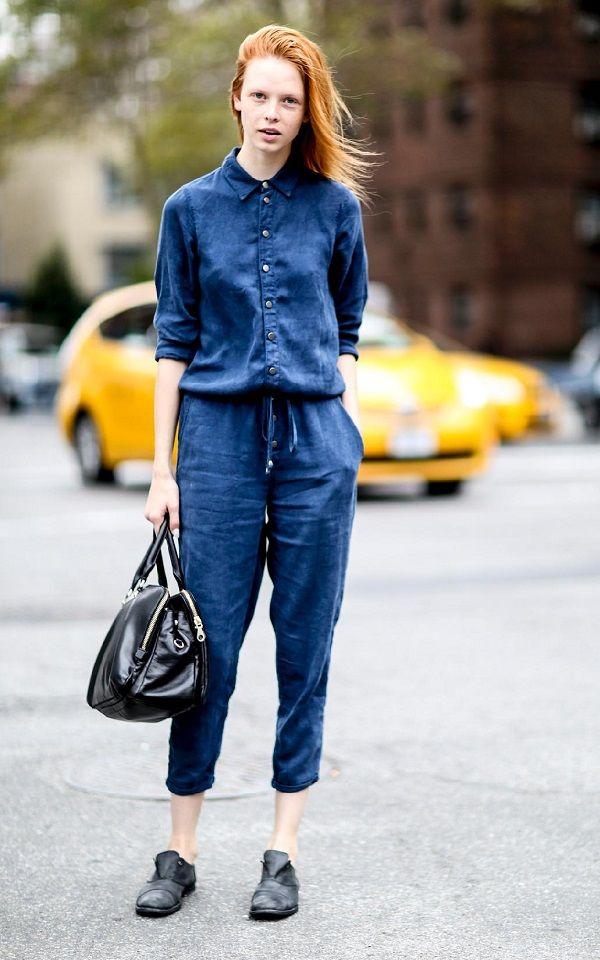 Tendencias primavera 2018: Look total denim. Lo Mejor de Street Style. Un look combinado con prendas de este tejido es muy cómodo y práctico  para nuestro día a día muchas veces tan dinámico. Si te gusta estilo  urbano ésta tendencia es ideal.
