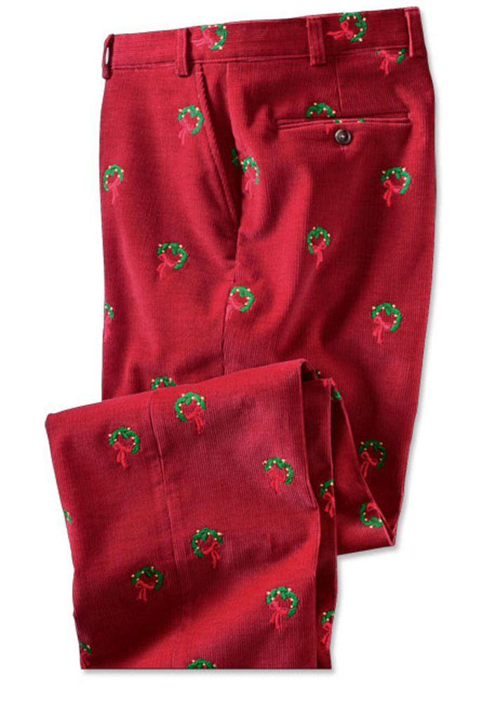 amazon orvis men's embroidered holiday bozeman cords
