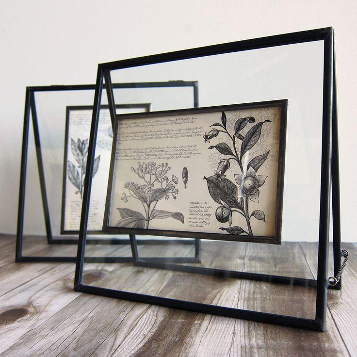 glass metal easel frame l task new york - Easel For Picture Frame