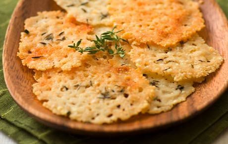i sprinkle some parmesan cheese clusters in a nonstick skillet, cover and cook until the edges are crispy then let cool a bit. light, tasty and surprisingly filling.