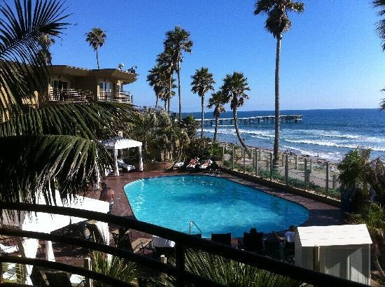 Pacific Terrace Hotel San Diego. I could lay in bed and watch the surfers.