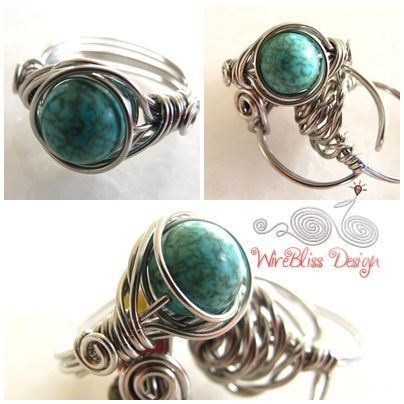 99 best Wire Work Ring Ideas images on Pinterest