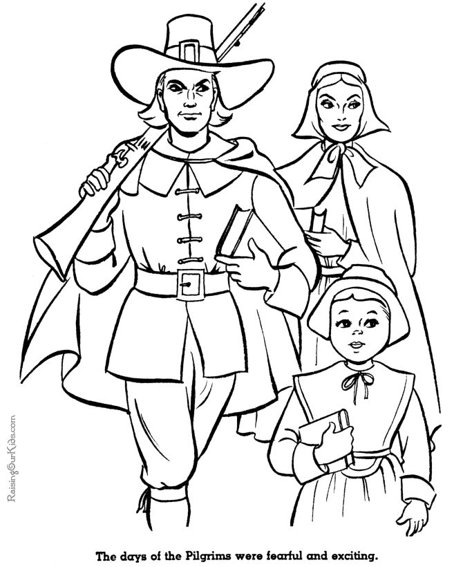 Pilgrims History Coloring Pages