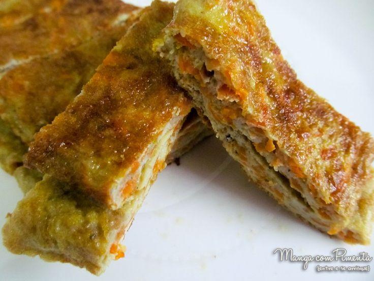 Omelete de Cenoura, para ver a receita, clique na imagem para ir ao Manga com Pimenta.