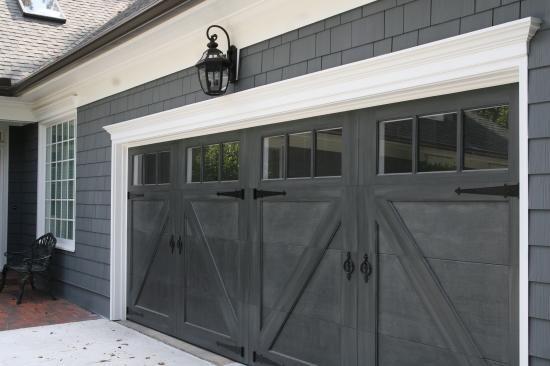 garage door ideas for back of the house - black carriage garage door hang your hat