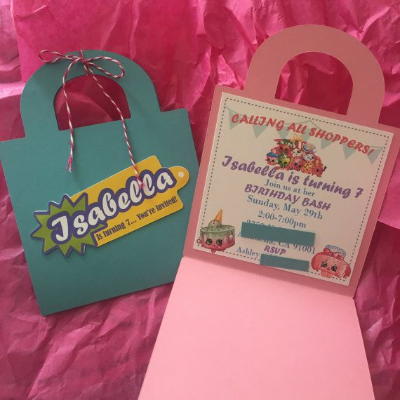 Shopkins Basket Invitation by TheKraftGarden on Etsy