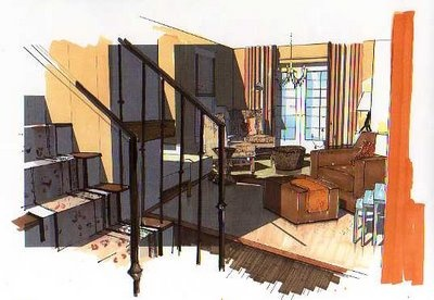 A Schematic Life: Interior Renderings/ '' You don't have to be an artist...by no means...there are tricks! '' (Michelle Morelan).