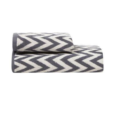 Betty Jackson.Black Designer grey chevron towel- at http://www.debenhams.com/webapp/wcs/stores/servlet/prod_10701_10001_308020220563_-1