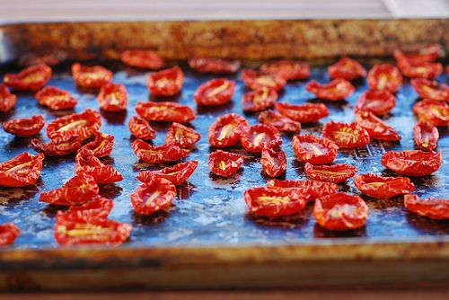 Delish: Sundried Tomatoes - in the oven!