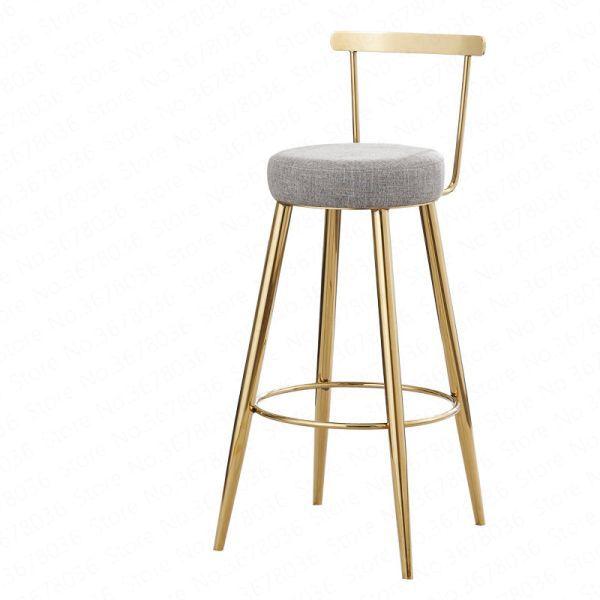 73 32 Reduction De 28 Tabourets De Bar Nordique De 65cm 75cm Chaise Haute Simple Decontracte Et Creat In 2020 Modern Bar Stools Bar Stools Gold Dining Chairs