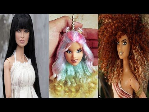 Amazing Barbie Hairstyle Tutorial Hair Color Transformation - YouTube